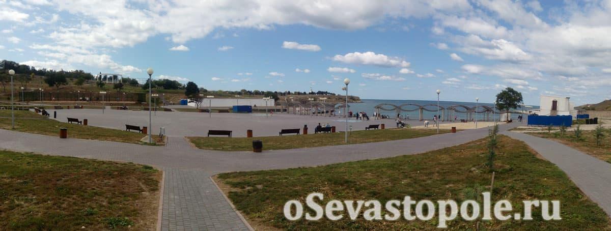 Инфраструктура на пляже Солнечный в Севастополе