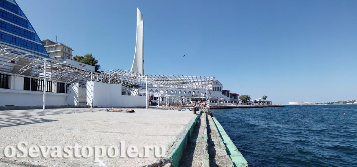 Отдых на пляже Хрустальный Севастополь