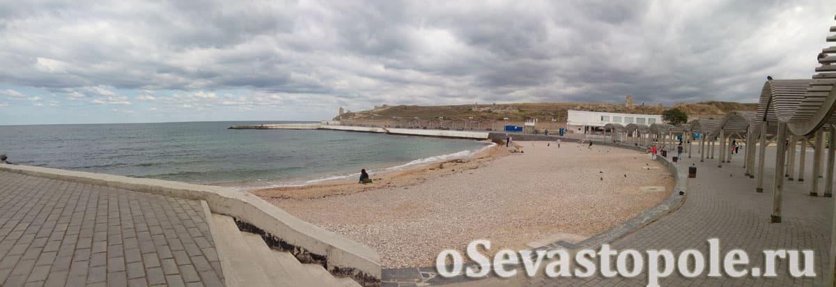 Пляж Солнечный в Севастополе фотография