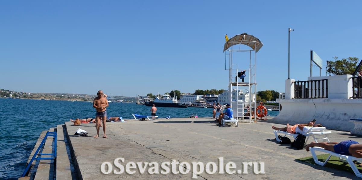 Спасательный пункт на пляже Хрустальный