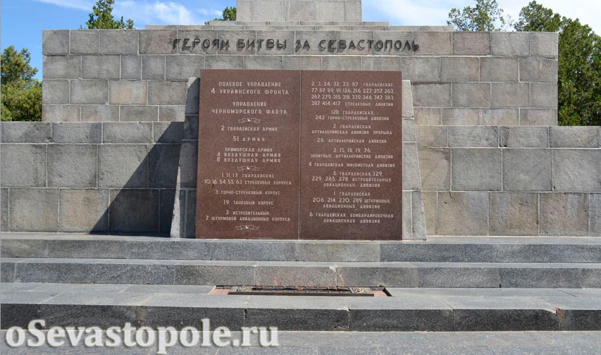 Стелла и Вечный огонь на Сапун-горе в Севастополе