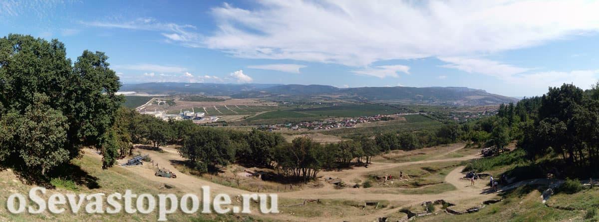 Вид с гребня Сапун-горы в Севастополе