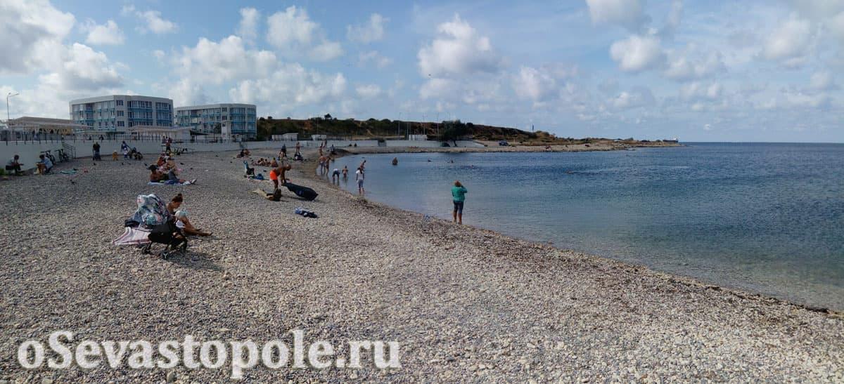 Берег на Солдатском пляже в Севастополе