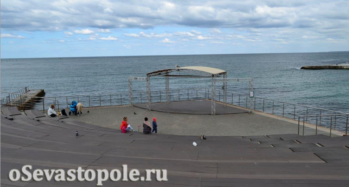 Площадка с ротондой в парке Ахматовой Севастополь