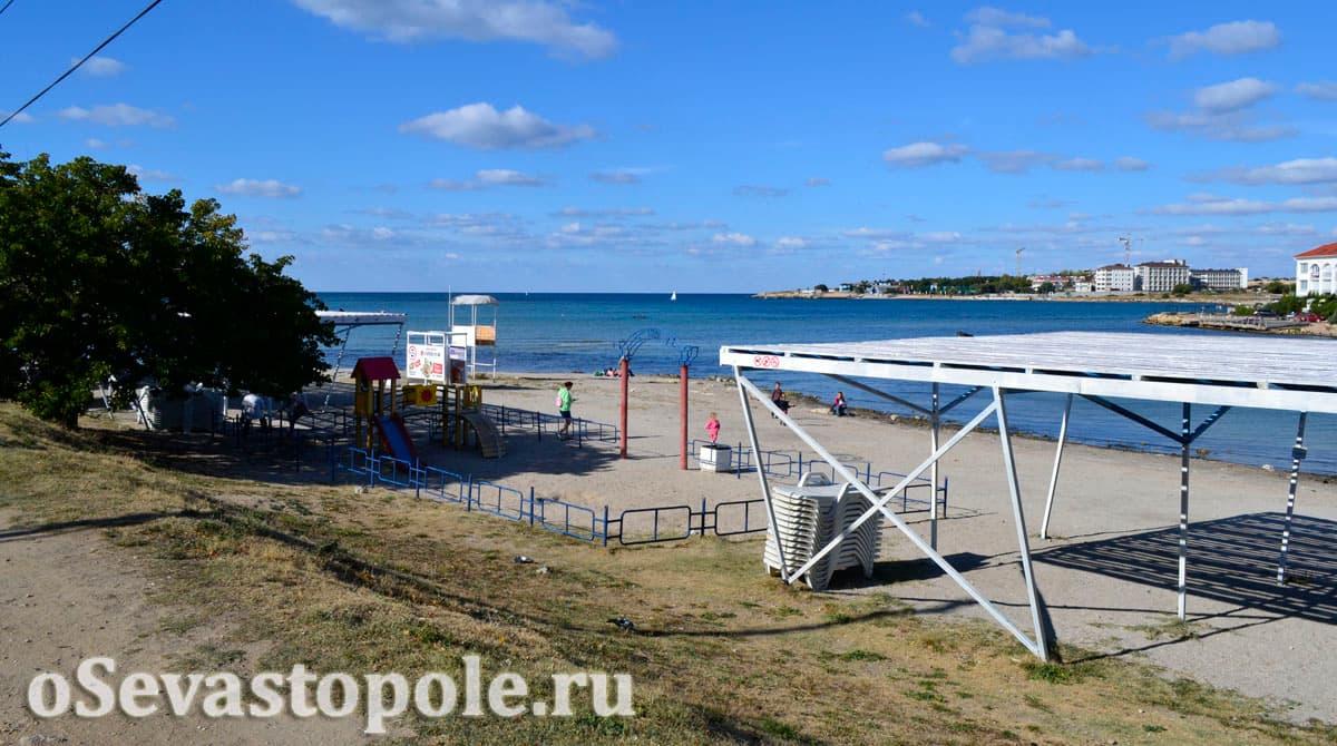 Пляж Омега в Севастополе