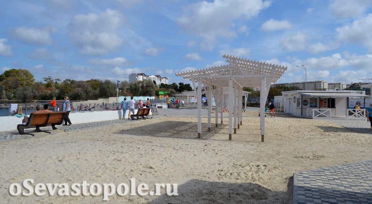 Солдатский пляж в Севастополе после реконструкции