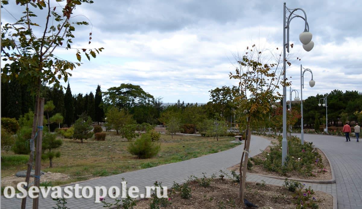 Вид на парк Ахматовой в Севастополе