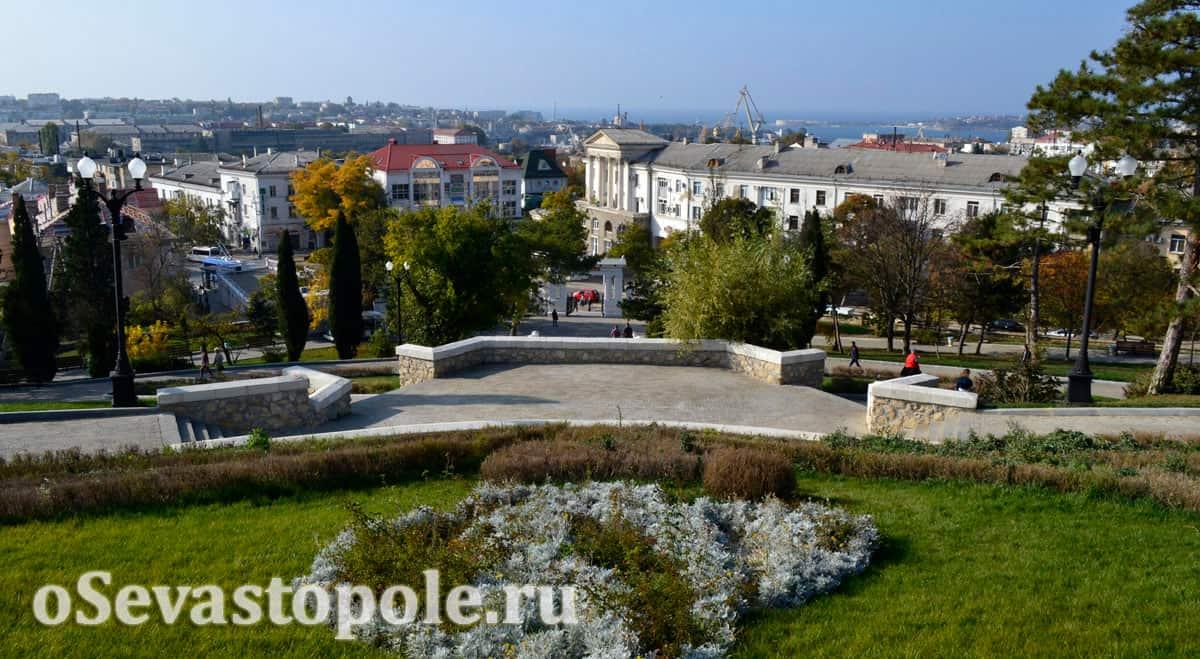 Вид на Севастополь с Малахова кургана