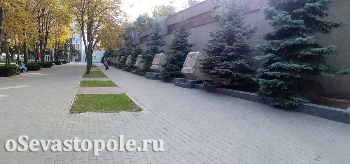 Аллея городов-героев Севастополь