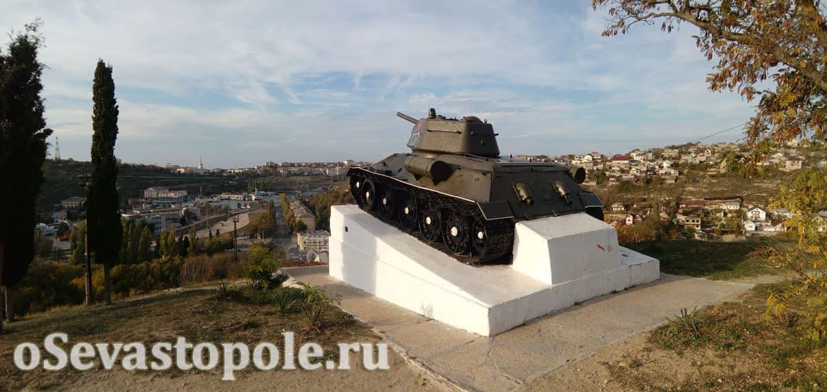 Памятник героям-танкистам на Красной горке в Севастополе