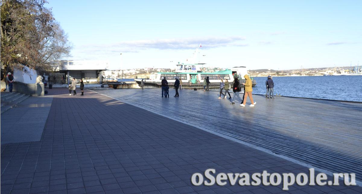 Причал у Графской пристани в Севастополе