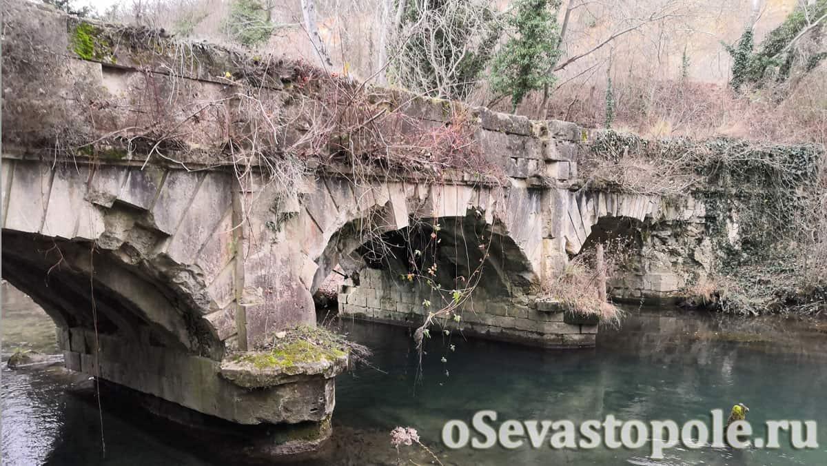 Чоргуньский мост акведук на реке Черная в Севастополе