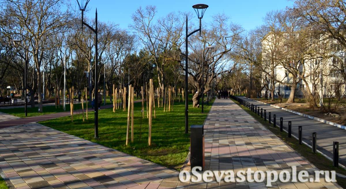 Ограждения в парке 60-летия СССР в Севастополе