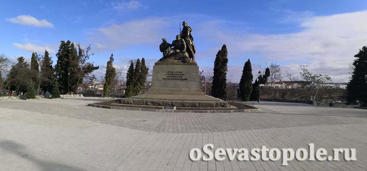 Вид на сквер Ленинского комсомола в Севастополе