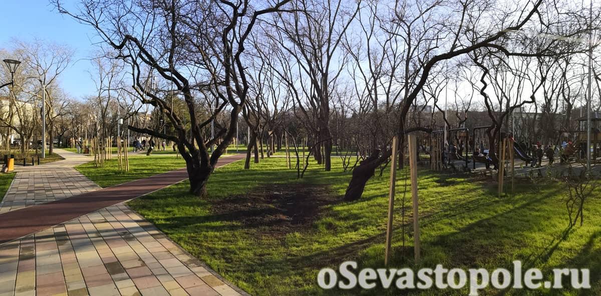 Вид в парке 60-летия СССР