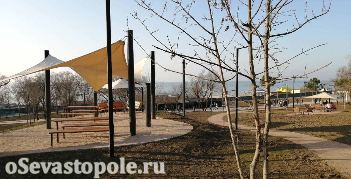 Места для отдыха в парке Учкуевка Севастополь