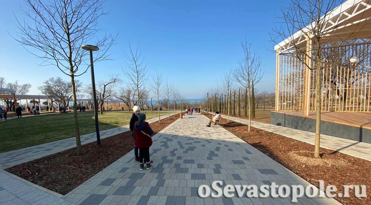 Парк Учкуевка в Севастополе после реконструкции