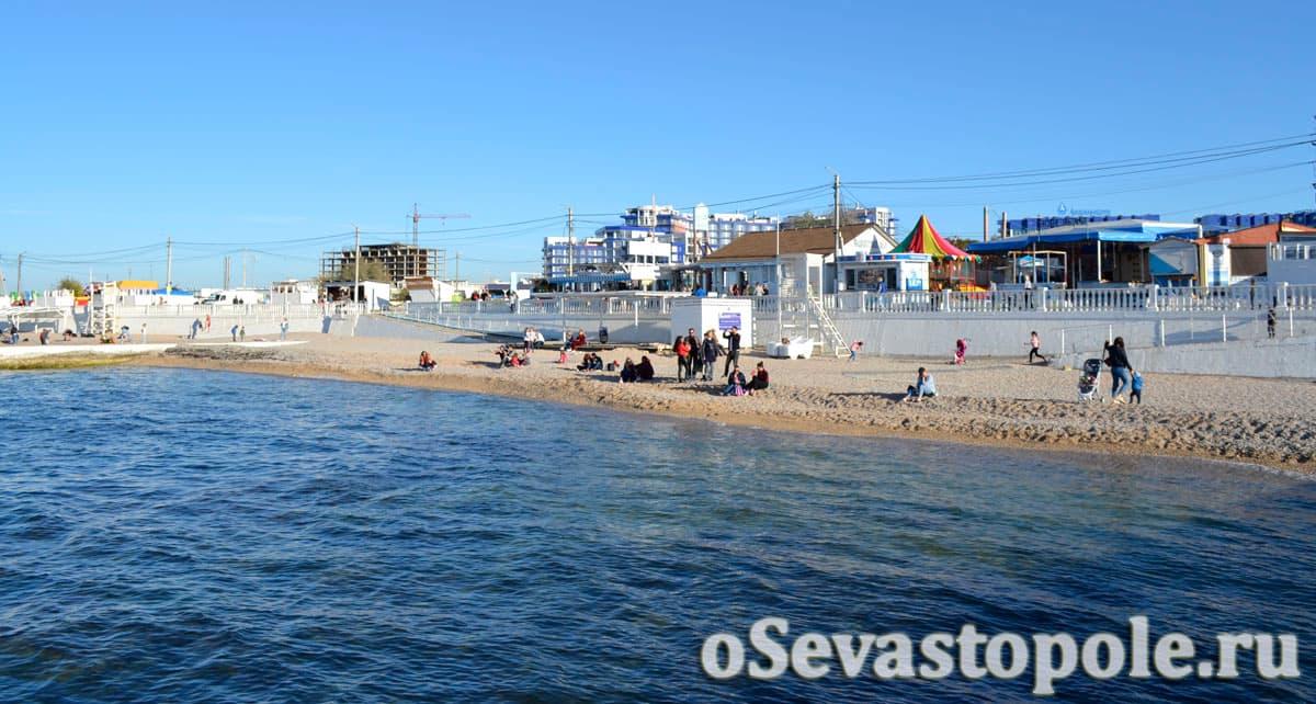 Пляж Парк Победы в Севастополе фото