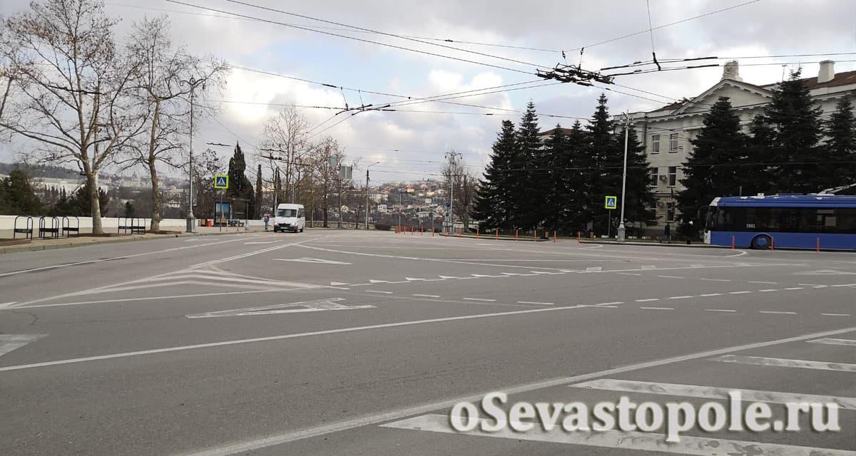 Транспортная расвязка на площади Суворова в Севастополе