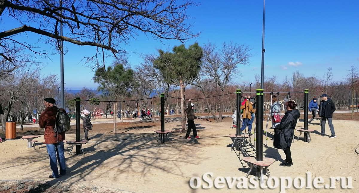 Веревочный лабиринт в парке Учкуевка
