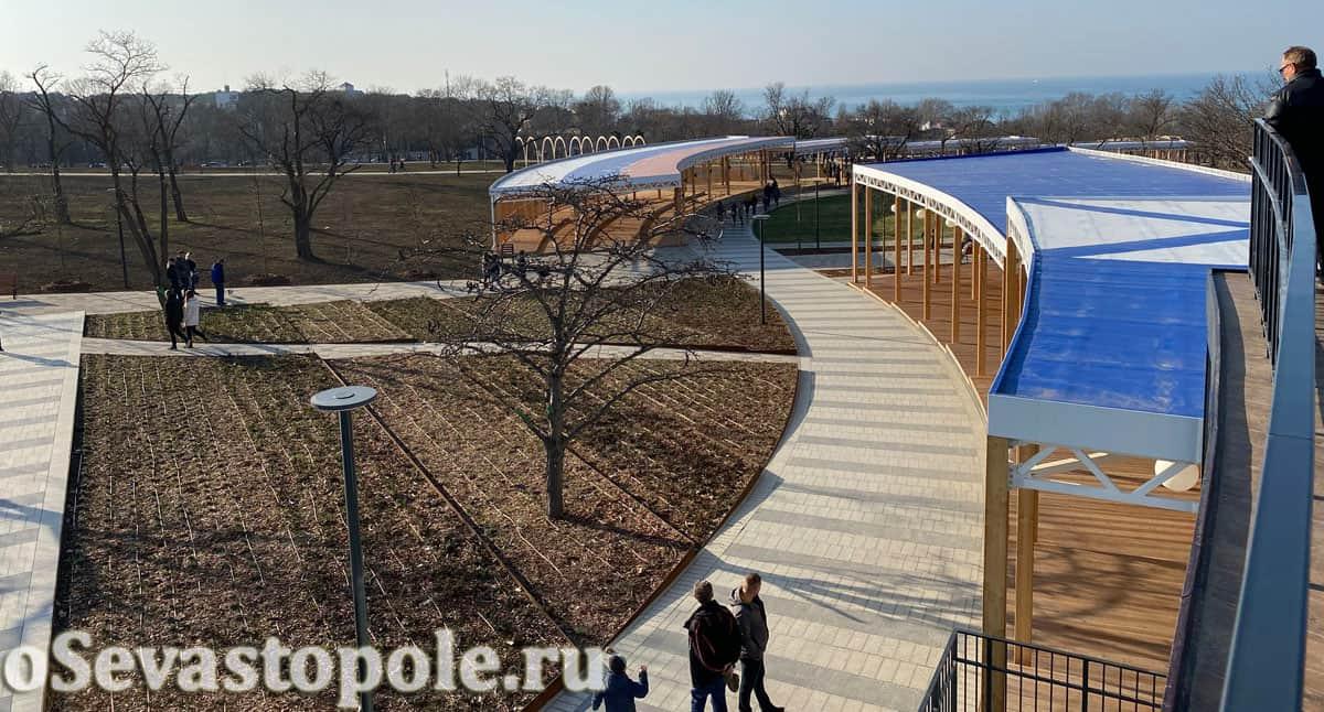 Вид со смотровой площадки в парке Учкуевка