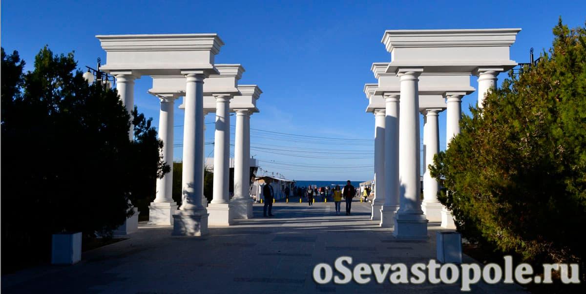 Вход на пляж Парк Победы в Севастополе