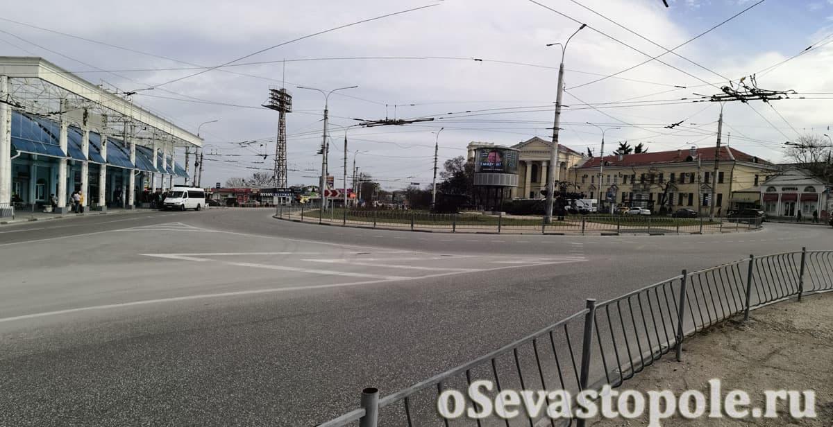 Панорама площади Восставших в Севастополе