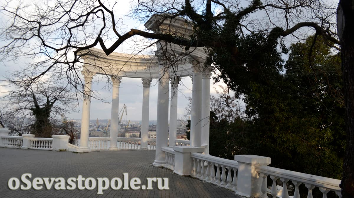 Ротонда в сквере воинов интернационалистов Севастополь