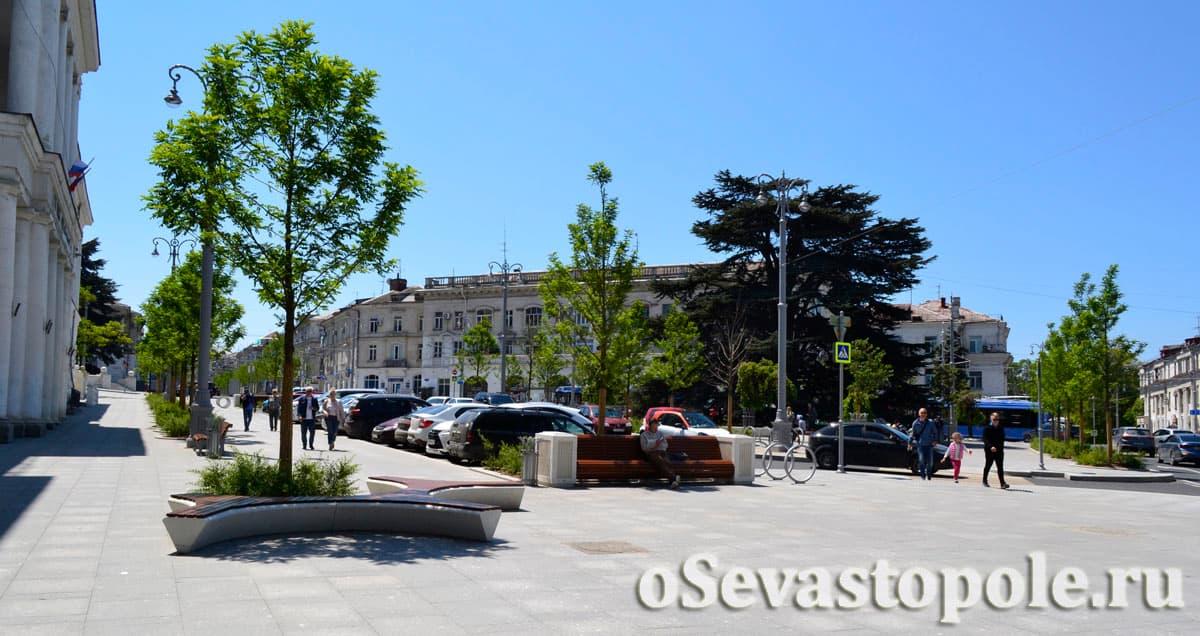 Площадь Лазарева в Севастополе фото