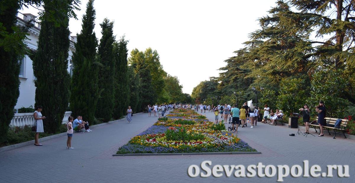 Аллея на Приморском бульваре Севастополя