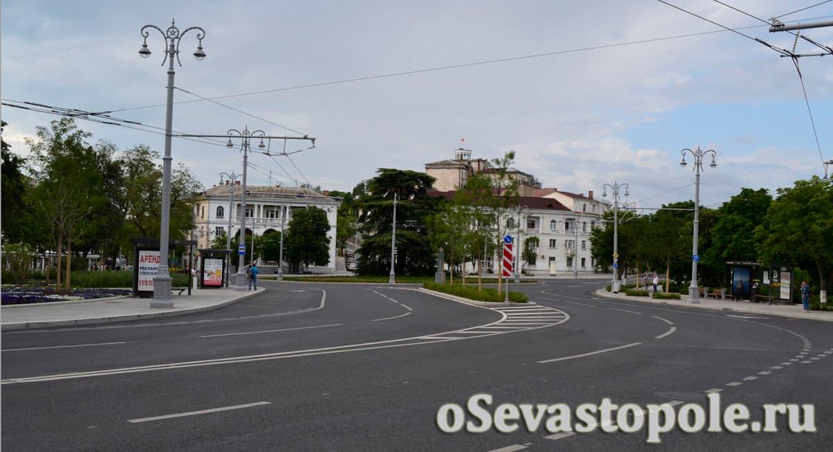 Фото площади Ушакова Севастополь