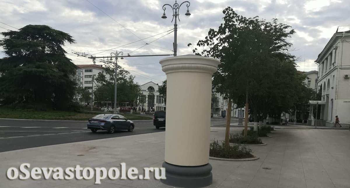 Площадь Ушакова в Севастополе после реконструкции