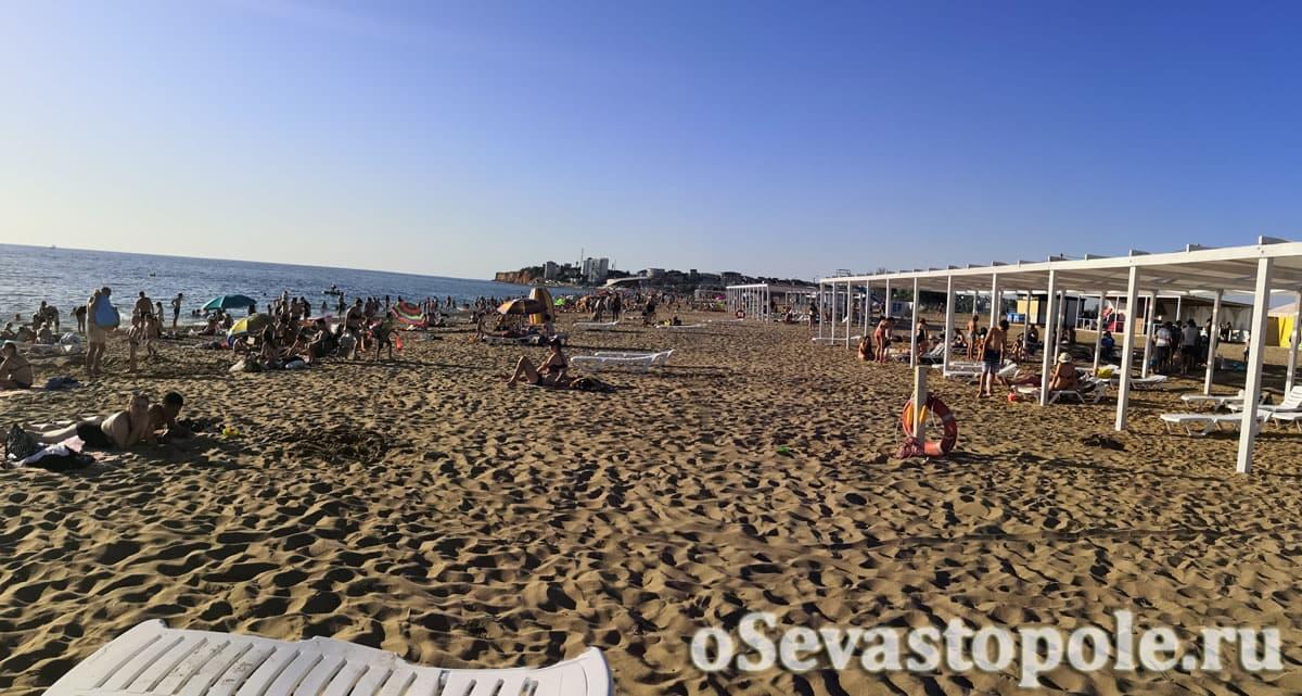 Пляж Нахимовец в Орловке Севастополь