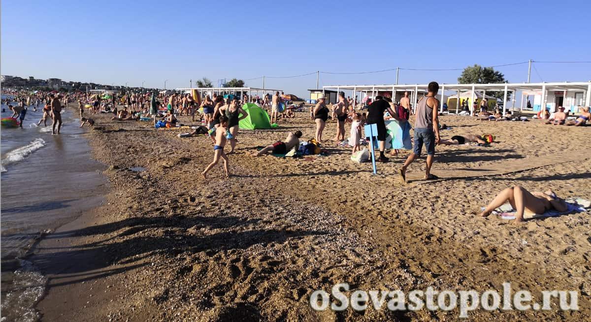 пляж Нахимовец в Орловке