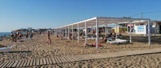 Пляж Нахимовец в Севастополе