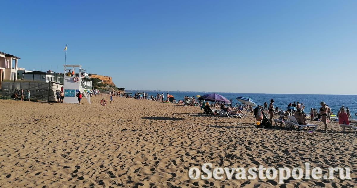 Пляж Нахимовец в Севастополе в Вязовой роще