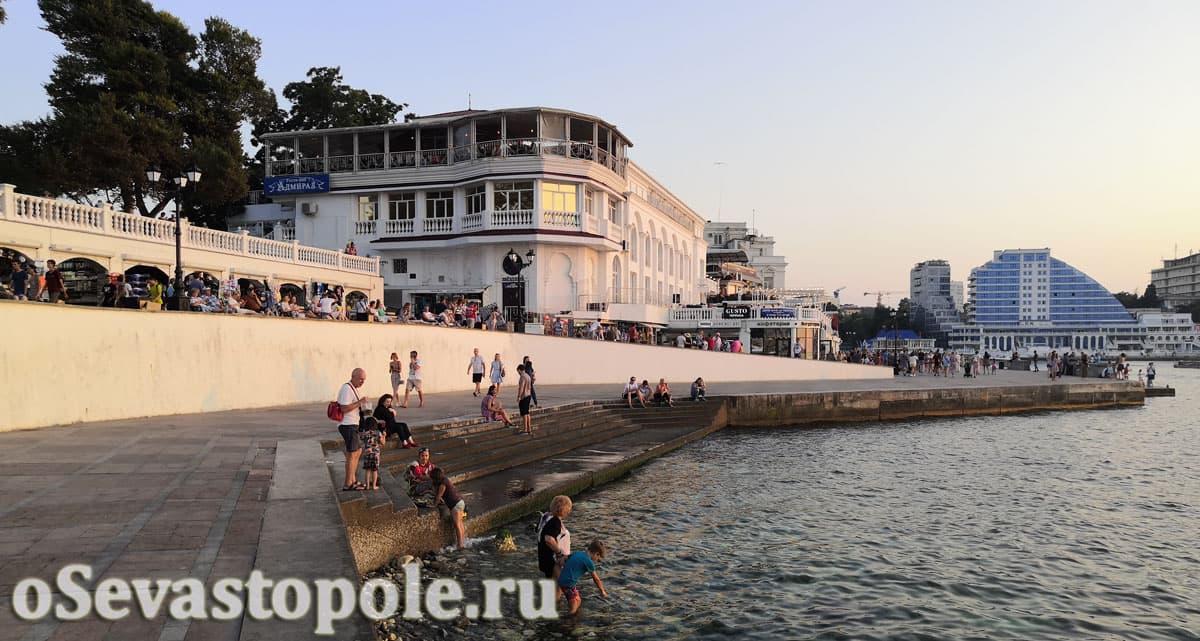 Приморский бульвар в городе Севастополь