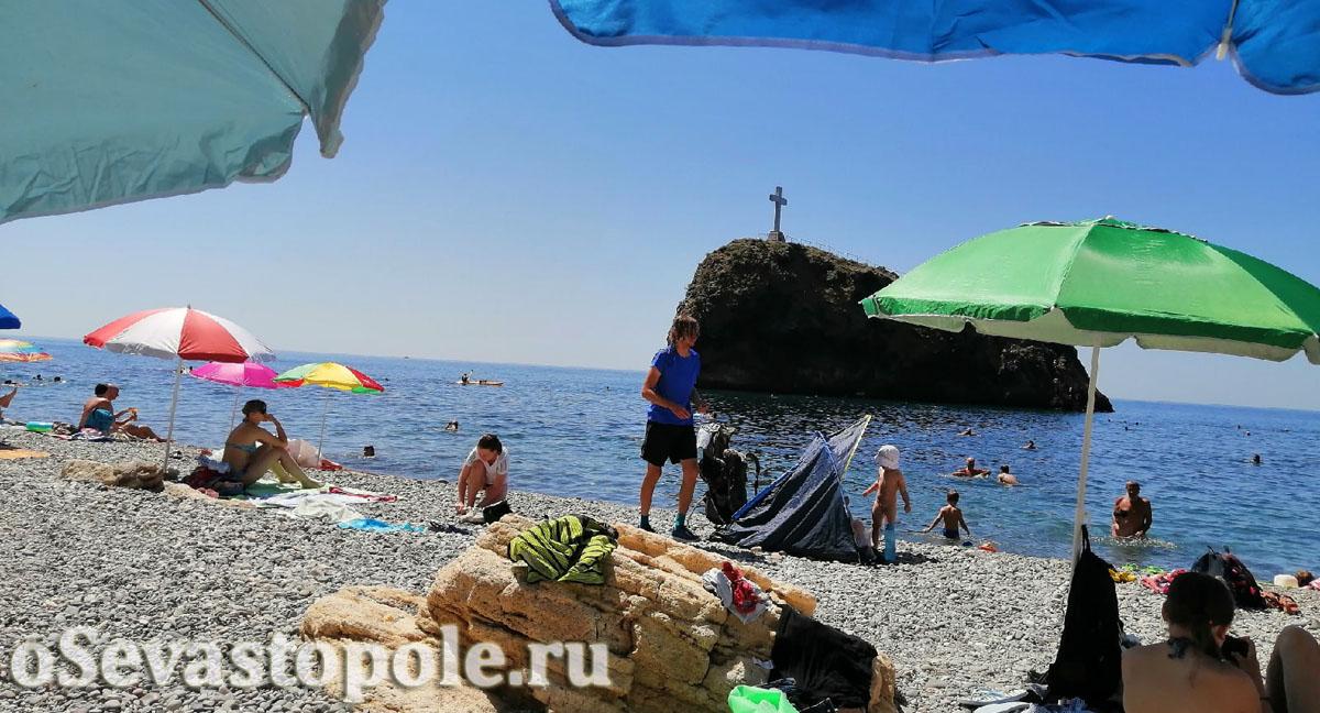 Яшмовый пляж на Фиоленте в Севастополе