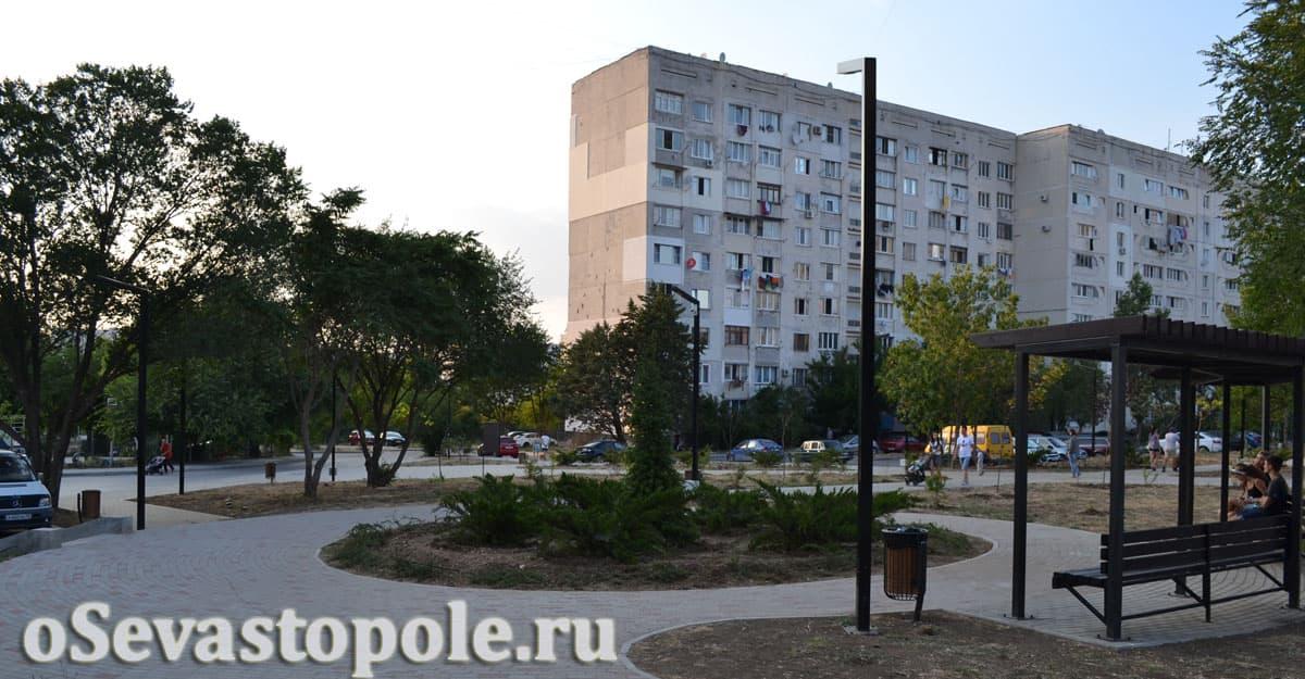 Фото сквера Астана Кесаева в Севастополе