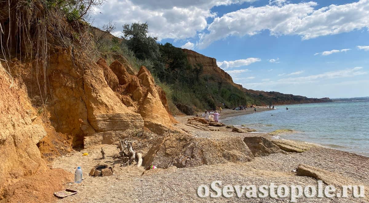 дикий пляж Бельбек в Севастополе