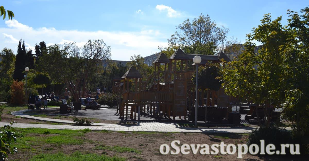Детская площадка в Динопарке Севастополя