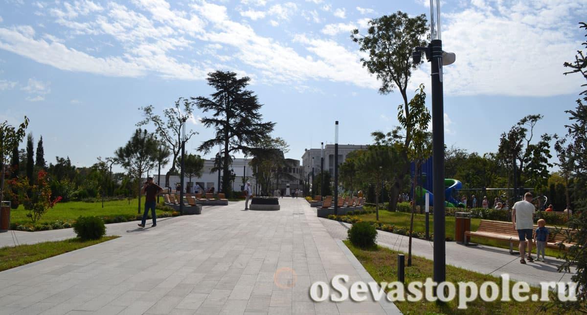 фото Матросского бульвара Севастополь