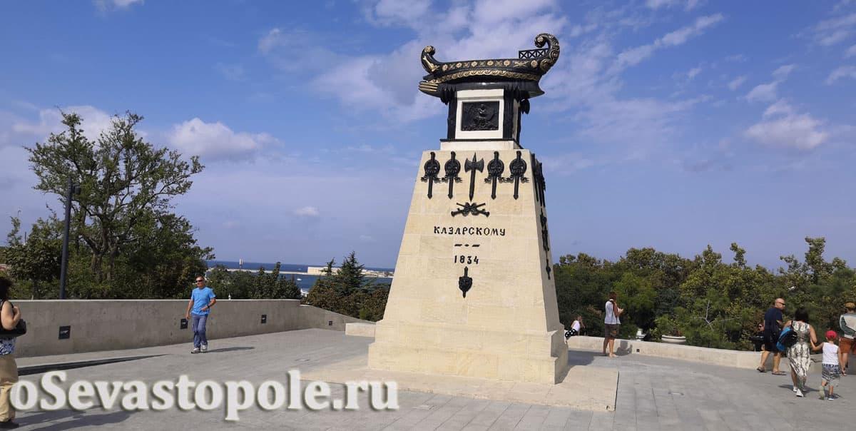 История памятника Казарскому в Севастополе