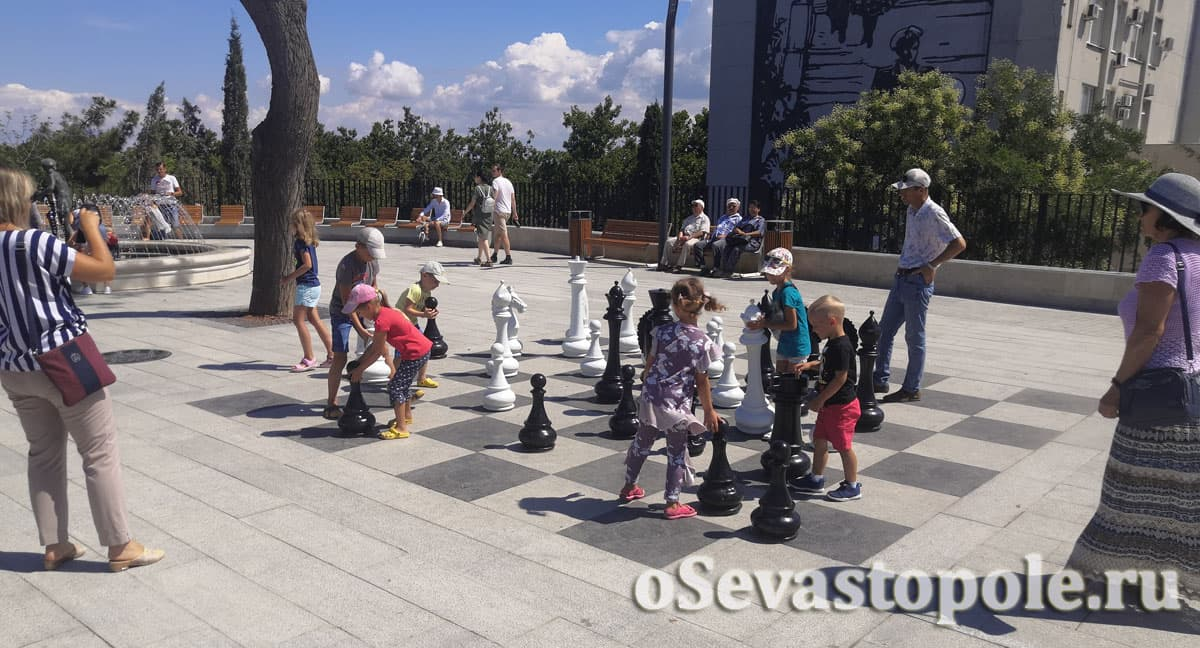 Шахматная доска на Матросском бульваре