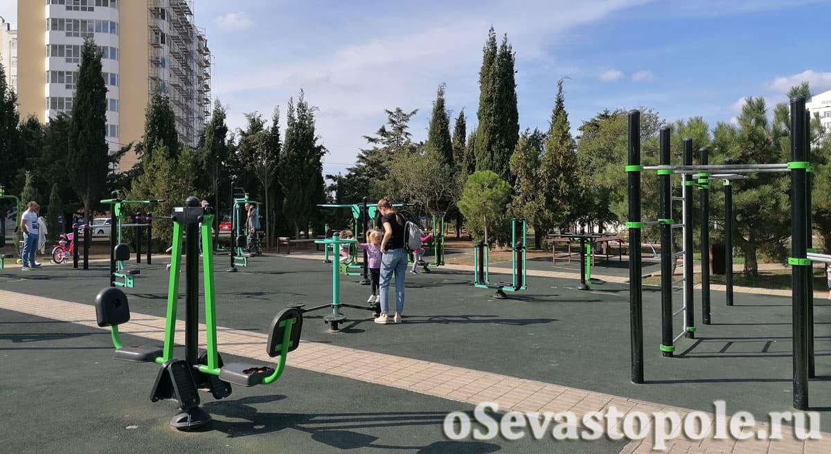 Спортивная площадка в Динопарке Севастополя