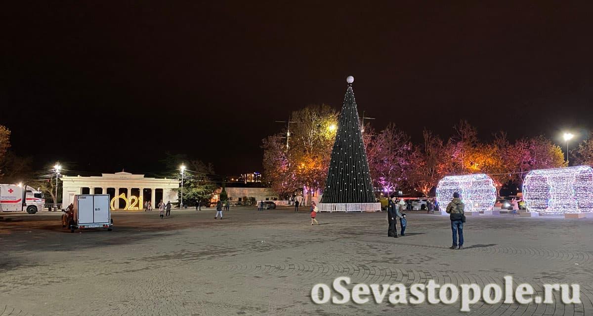 Елка в Севастополе на площади Нахимова