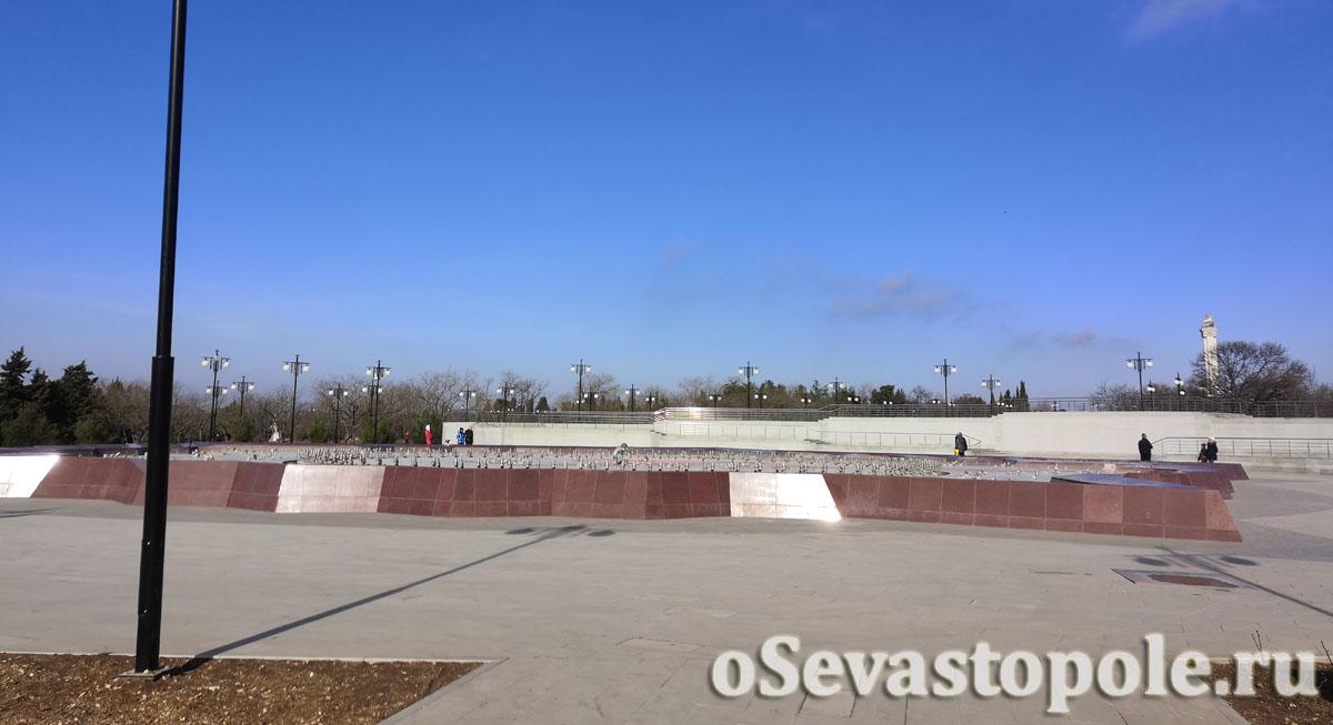 Главный фонтан в парке Победы Севастополь