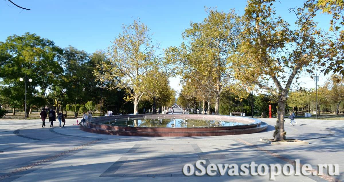 Круглый фонтан в Парке Победы Севастополя
