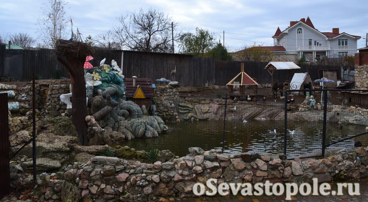 Зоопарк в парке Лукоморье в Севастополе
