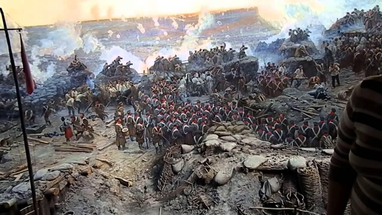 Бой на Малаховом кургане 6 июня 1855 года. Автор - Франц Алексеевич Рубо.